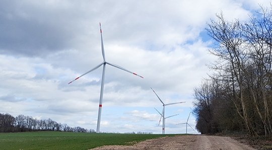 Windpark in Kreuzau in Betrieb